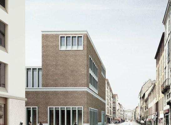 1. Preis Öffentliche Bauten: Blick aus der Straße Corso di Porta Ticinese