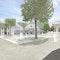 Zentraler Platzbereich Am Thie / Mont-Saint-Aignan-Platz