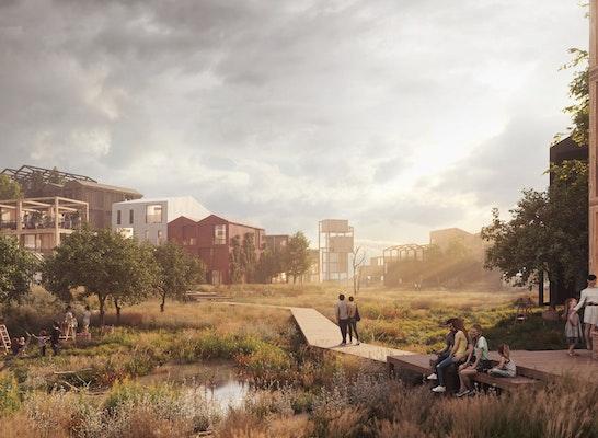 Gewinner: Fælledby, © Henning Larsen Architects