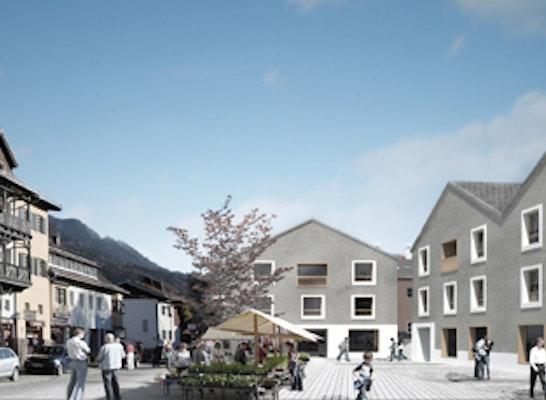 1. Preis: Perspektive Ortsmitte Marktplatz