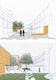 Jedes Haus hat eine Eingangsseite zum öffentlichen Raum (oben) und eine ruhige Seite in einem geschützten Gartenhof (unten).