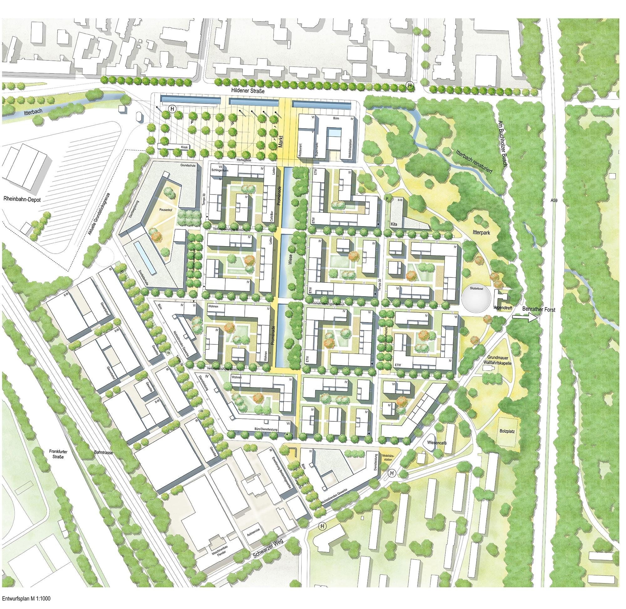 Ergebnis: Entwicklung des Areals Südlich Hildener S...competitionline