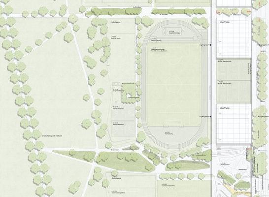Lageplan Sportpark 2. Phase