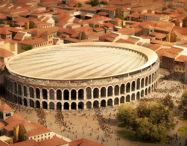 "International contest of ideas for roofing the Roman Amphitheater ""Verona Arena"""