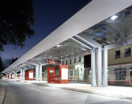 Auszeichnung: Busterminal in Neuss, Wichmann Architekten & Ingenieure, © Jens Kirchner, Düsseldorf