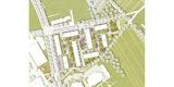 Anerkennung stern landschaften Lageplan des neuen Quartiers