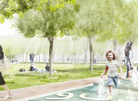Gewinner: Perspektive Besselplatz mit Wunschbrunnen