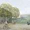Blick über den Schulhof auf den Altbau und die Erweiterung