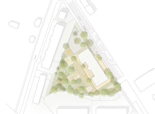 Zuschlag: Lageplan, © AWB Architekten
