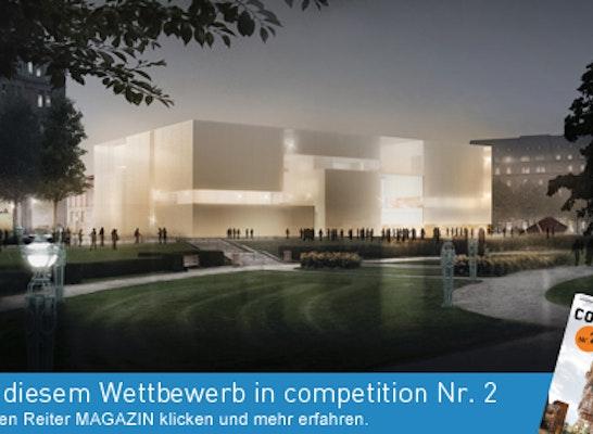 1. Preis Zuschlag: Nach Abschluss des Verhandlungsverfahrens erhalten gmp - von Gerkan, Marg und Partner den Zuschlag zum Neubau der Kunsthalle Mannheim.