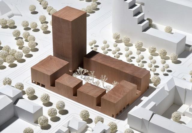Neubau eines Hochhauses an der Augustanlage in Mannheim