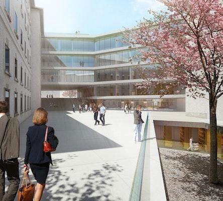Nominierung: Justizgebäude Salzburg, SUE ARCHITEKTEN, KPPK Ziviltechniker GmbH, rajek barosch landschaftsarchitektur, © SUE Architekten