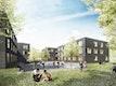 Studentische Wohnhäuser Lodyweg Hannover _ Perspektive Innenhof