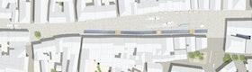 Ausschnitt Moosach  / Anerkennung Stadteingänge // GTL Gnüchtel Triebswetter Landschaftsarchitekten, Kassel und ATELIER 30 Architekten GmbH - Fischer, Creutzig, Kassel