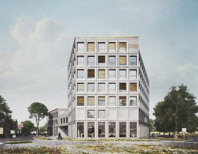 Neubau einer Dienstleistungs- und Gewerbeimmobilie in Lindau