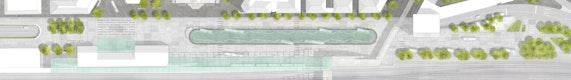 Lageplan ZOB mit Straßenbahn M 1:200