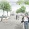 Blick über den neuen Theodor-Heuss-Platz