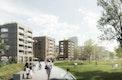 Promenade entlang neuem Wohnquartier