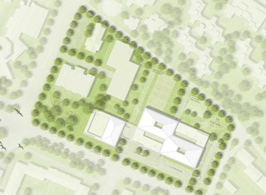 1. Preis: © Bär, Stadelmann, Stöcker Architekten / Lex Kerfers_Landschaftsarchitekten und Stadtplaner