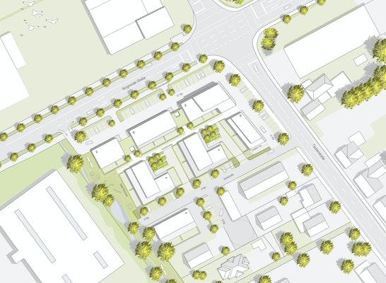 1. Preis: Lageplan @h2 architektten