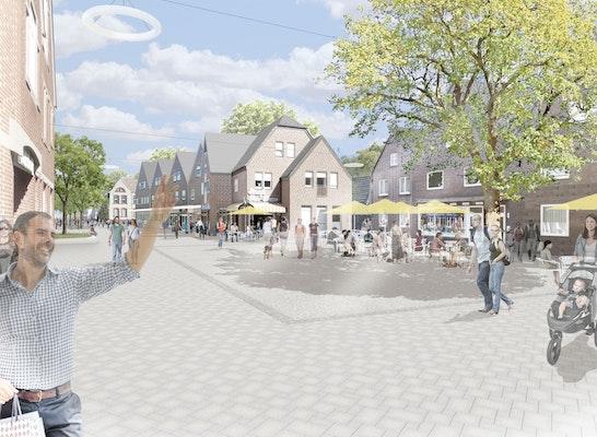 1. Preis: Blick über den Neuen Markt nach Osten, © wbp Landschaftsarchitekten GmbH