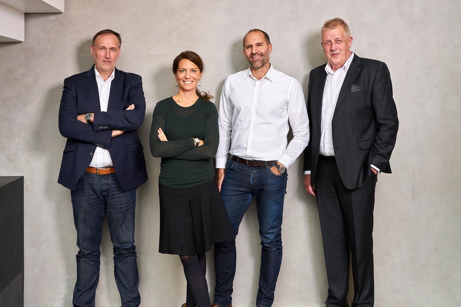 Von links nach rechts: Horst Gumprecht, Britt Angelis, Alexis Angelis, Onno Folkerts.