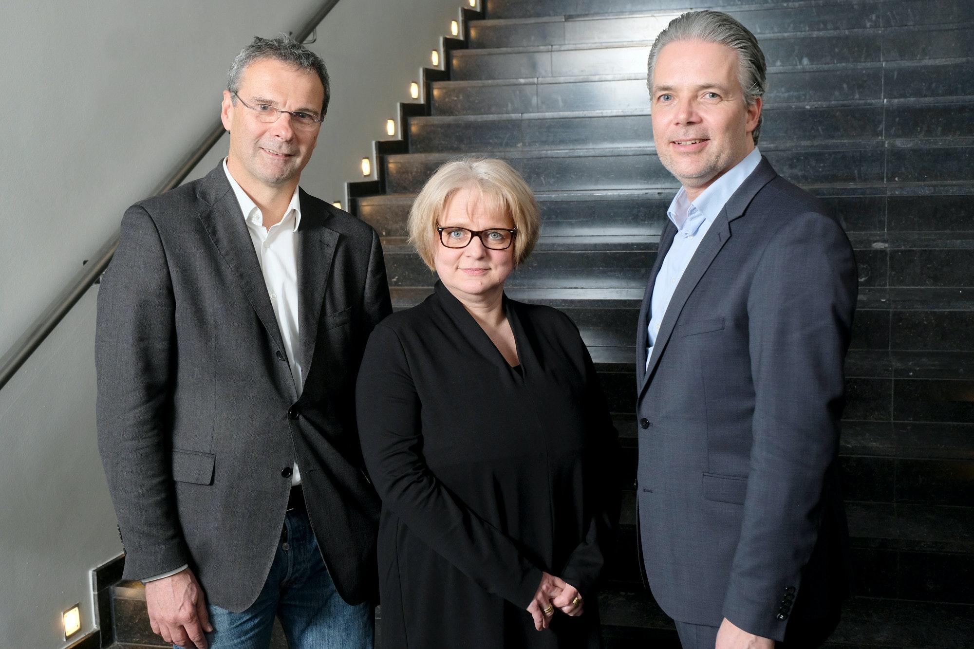 Die Neuen: Robert Marlow, Präsident der Architektenkammer Niedersachsen; Christiane Kraatz, Vizepräsidentin; Christoph Schild, Vizepräsident (von links)