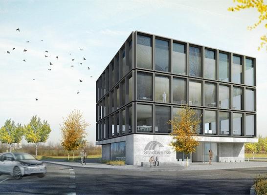 offizieller Laden heißer Verkauf online Bestbewertete Mode 1. Preis Neubau Bürogebäude Stadtwerke...competitionline
